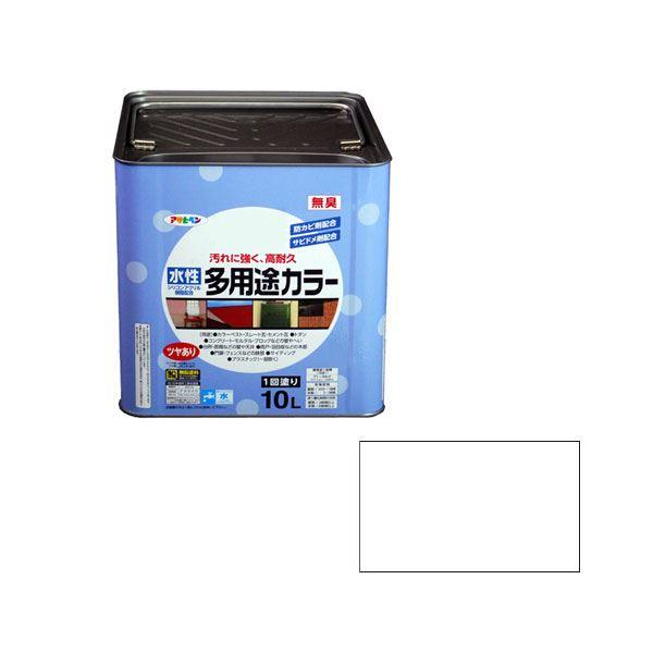 アサヒペン AP 水性多用途カラー 10L 白
