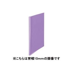 (業務用100セット) プラス シンプルクリアファイル 【A4】 40ポケット タテ入れ FC-240SC 紫