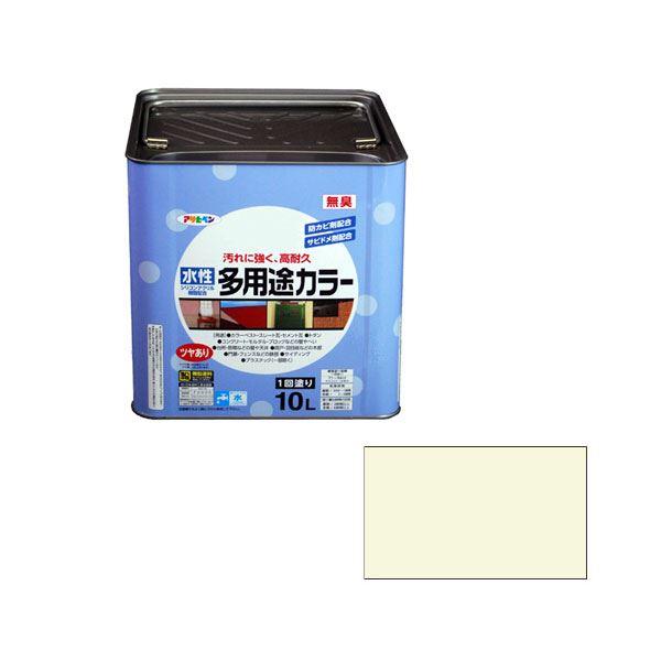 アサヒペン AP 水性多用途カラー 10L ミルキーホワイト