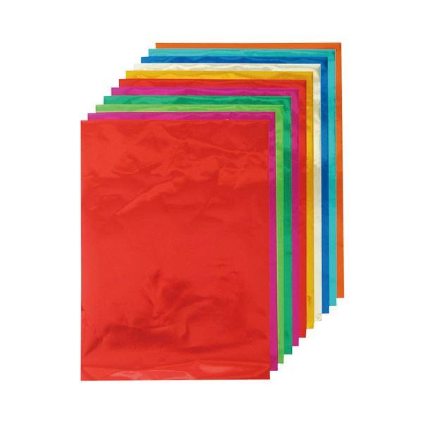 【スーパーセールでポイント最大44倍】(業務用20セット) クラサワ ホイルカラー紙 K-82