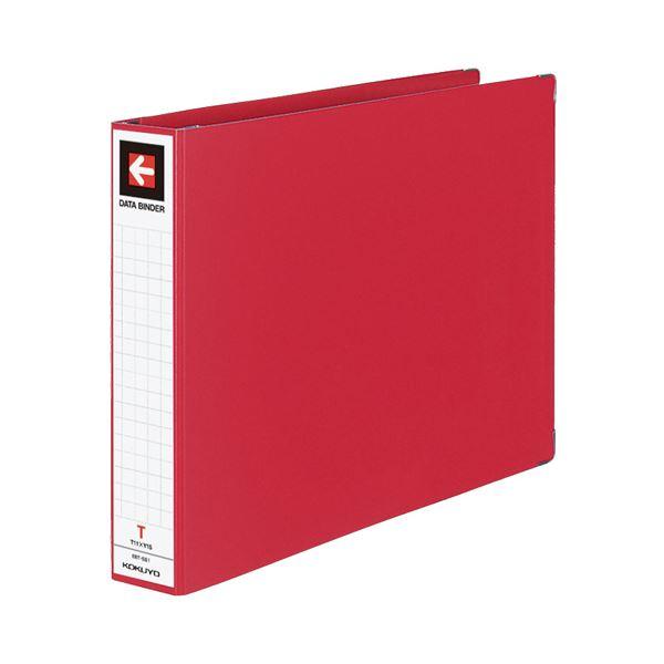 (まとめ) コクヨ データバインダーT(バースト用・ワイドタイプ) T11×Y15 22穴 450枚収容 赤 EBT-551R 1冊 【×5セット】