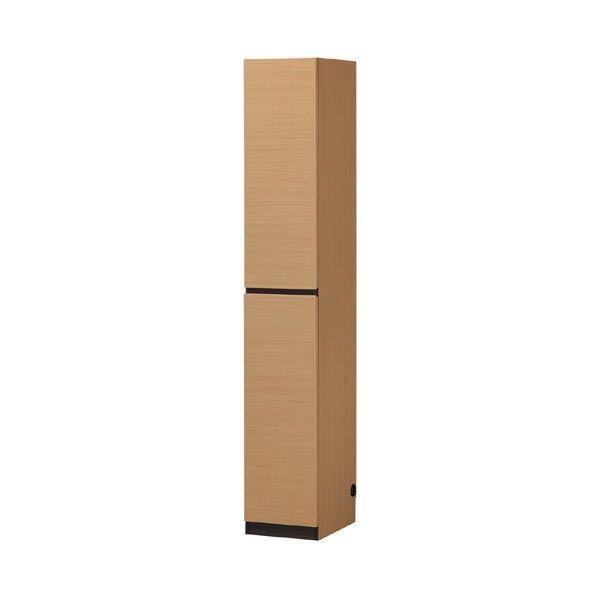 壁面収納棚/リビング収納 【薄型 幅30cm×高さ180cm】 ナチュラル スリム 『PORTALE ポルターレ』【代引不可】