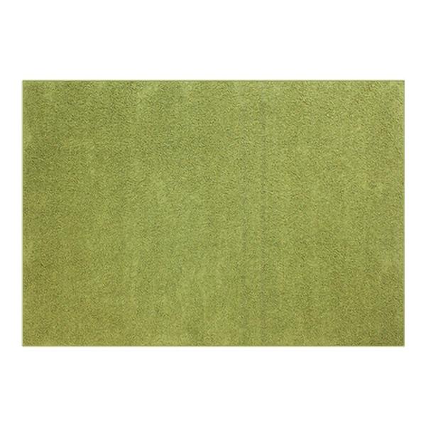 防音 ラグマット/絨毯 【フレイク 200cm×250cm 3帖 グリーン】 長方形 床暖房可 防滑 オールシーズン 〔リビング〕【代引不可】
