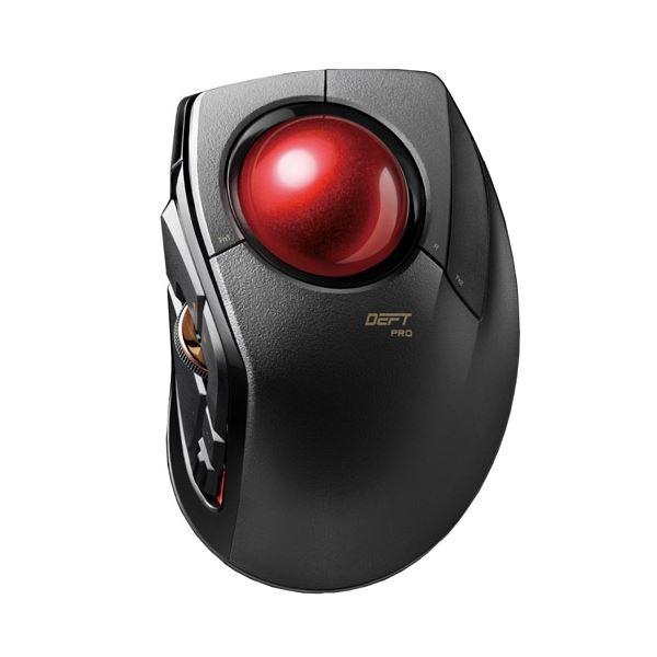 【マラソンでポイント最大43倍】エレコム トラックボールマウス/人差指/8ボタン/チルト機能/有線/無線/Bluetooth/1000万回耐久/ブラック M-DPT1MRBK