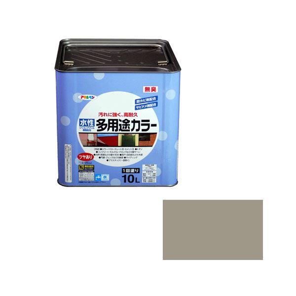 アサヒペン AP 水性多用途カラー 10L ライトグレー