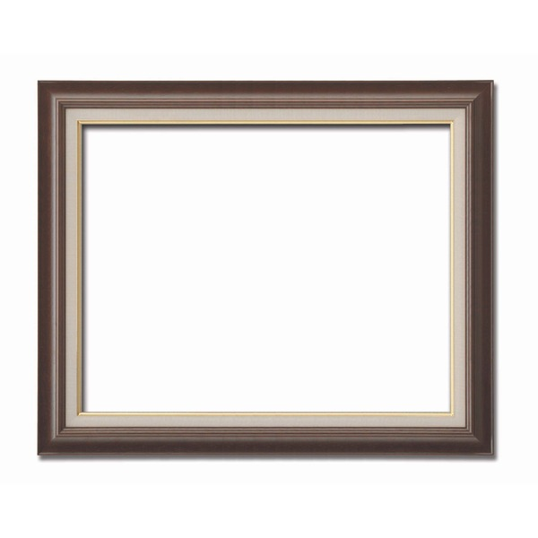 【油額】油絵額・キャンバス額・木製油絵額・茶色油絵額 ■F20号(727×606mm)「ブラウン」