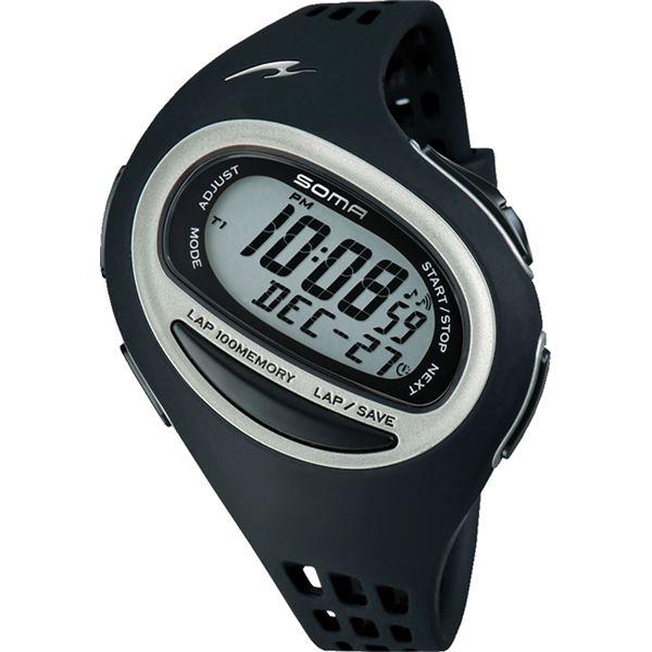 【マラソンでポイント最大43倍】SOMA(ソーマ) RunONE 100SL MEDIUM SIZE(ランワン 100SL ミディアムサイズ) ブラック DWJ090001