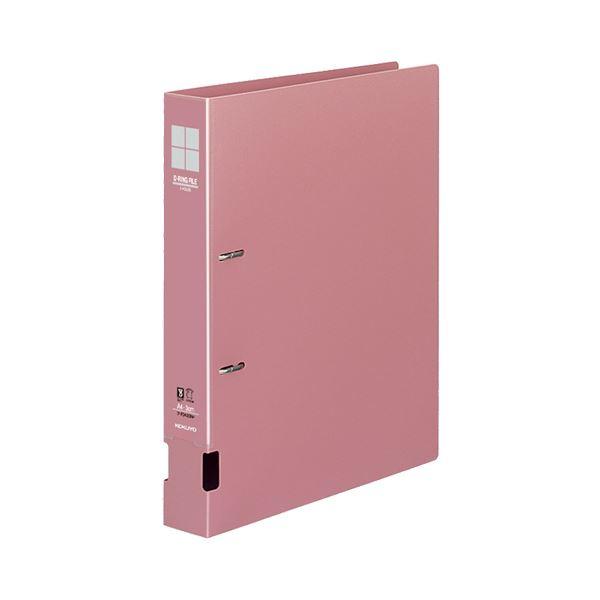 (まとめ) コクヨ DリングファイルS型 再生PP表紙 A4タテ 2穴 300枚収容 背幅45mm ピンク フ-FD430P 1冊 【×10セット】