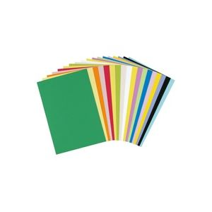 【スーパーセールでポイント最大44倍】(業務用30セット) 大王製紙 再生色画用紙/工作用紙 【八つ切り 100枚】 そら