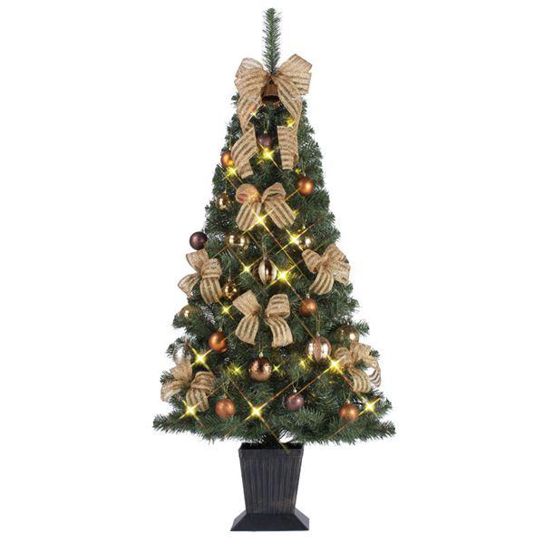 【スーパーセールでポイント最大43倍】クリスマスツリー 【華 ゴールド&カッパー】 150cmサイズ 四角ポット付き 『セットツリー』 〔イベント パーティー〕