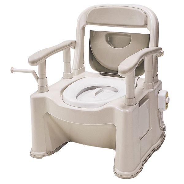 パナソニックエイジフリーライフテック 樹脂製ポータブルトイレ ポータブルトイレ【座楽】背もたれ型SP VALSPTSPBE