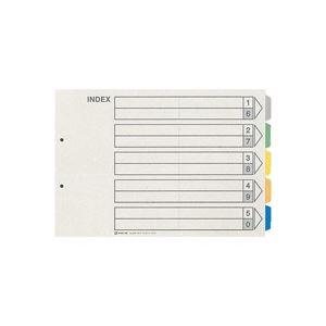 (業務用50セット) キングジム カラーインデックス/ファイル用仕切り 【B4/2穴 ヨコ型】 10組入り 909E 1パック