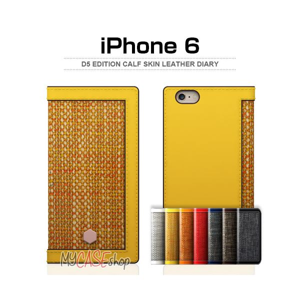 【マラソンでポイント最大43倍】SLG Design iPhone6 D5 Edition Calf Skin Leather Diary ブラウン