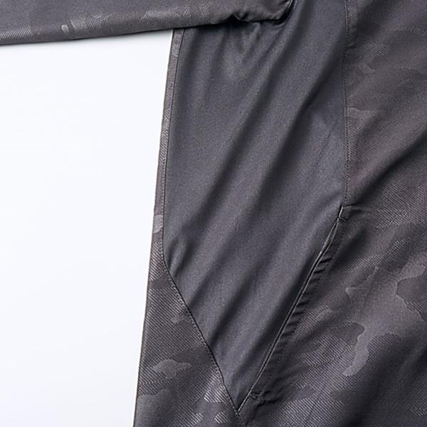 シャカシャカと音がしない撥水&防風加工・リフレクター・裏地付フルジップパーカー ブラック L