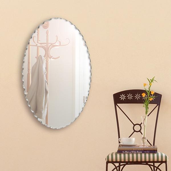 デザイン ウォールミラー/壁掛け鏡 【幅40cm×奥行3cm×高さ60cm】 飛散防止加工【代引不可】