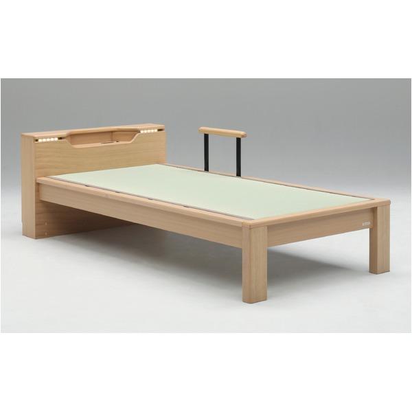 畳ベッド【ベッドフレームのみ】【スミカ】 (セミダブル・ナチュラル・キャビネットタイプ) グランツ GLANZ【代引不可】