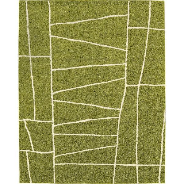 ラグマット カーペット 正方形 ホットカーペット対応 日本製 『ジオーニ』 ライトグリーン 190×190cm【代引不可】