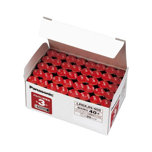(業務用セット) パナソニック アルカリ乾電池 パナソニックアルカリ(金) オフィス電池 LR6XJN/40S(40本入) 【×3セット】