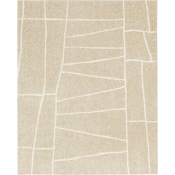 ラグマット カーペット 長方形 ホットカーペット対応 日本製 『ジオーニ』 ベージュ 130×190cm【代引不可】