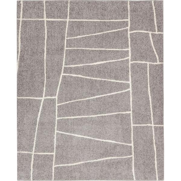 ラグマット カーペット 長方形 ホットカーペット対応 日本製 『ジオーニ』 ライトグレー 190×240cm【代引不可】