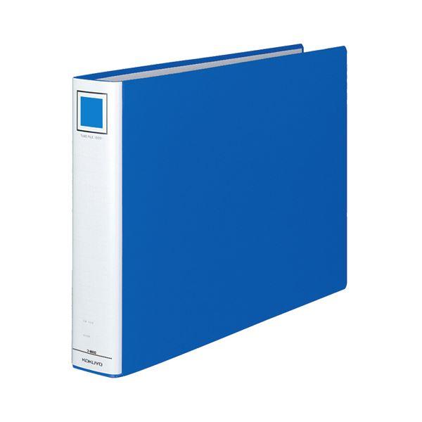 (まとめ) コクヨ チューブファイル(エコ) 片開き A3ヨコ 500枚収容 背幅65mm 青 フ-E653B 1冊 【×3セット】