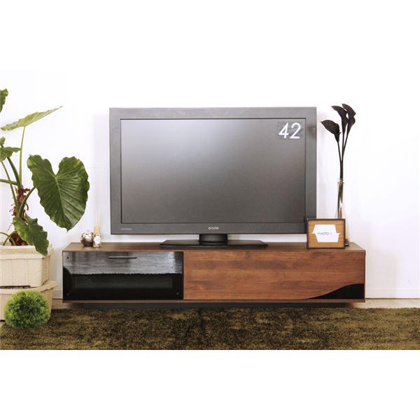 ローボード(テレビ台/テレビボード) 木製 【幅180cm:46型~80型対応】 引き出し収納付き 日本製 ブラウン【代引不可】