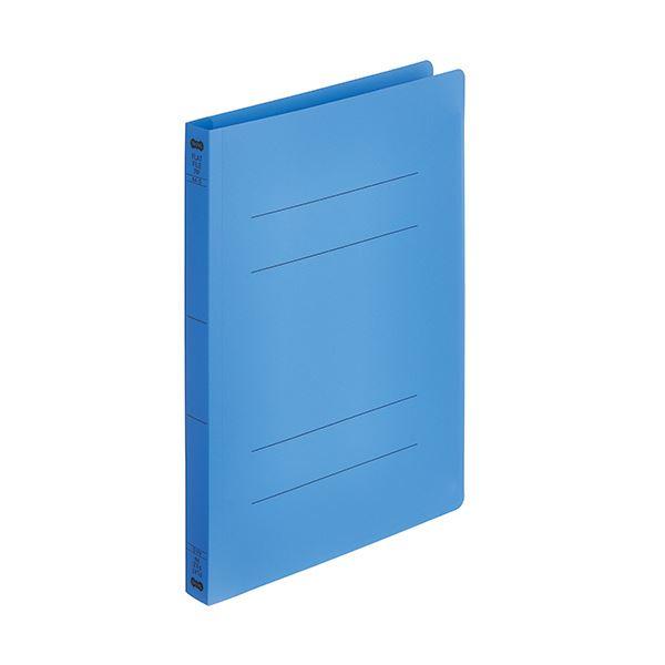 (まとめ) TANOSEEフラットファイル厚とじ(PP) A4タテ 250枚収容 背幅28mm ロイヤルブルー 1パック(5冊) 【×30セット】