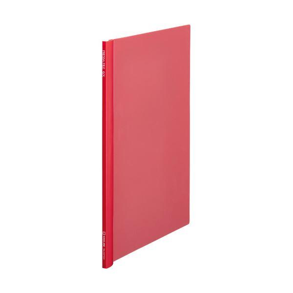 (まとめ) キングジム プレッサファイルGXA4タテ 50枚収容 赤 537GXアカ 1冊 【×30セット】