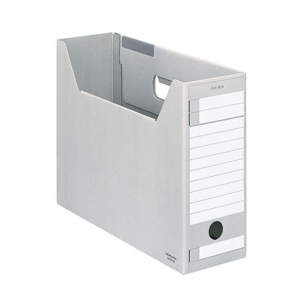(まとめ)コクヨ ファイルボックス-FS(Eタイプ)(A4ジャスボックス)A4ヨコ 背幅102mm グレー A4-LFE-M 1セット(5冊)【×5セット】