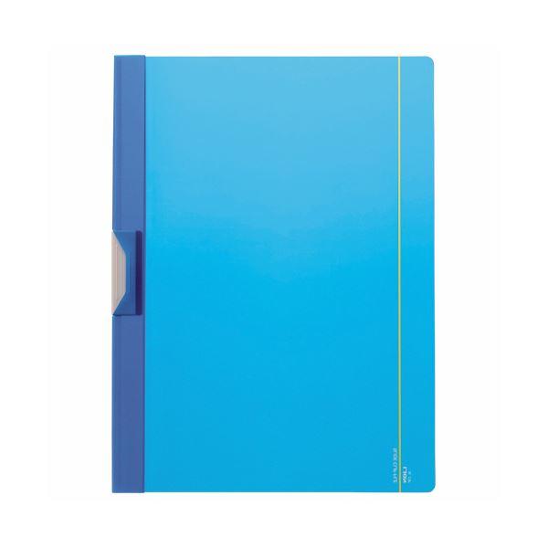 【スーパーセールでポイント最大44倍】(まとめ) ライオン事務器 スライドクリップファイルA4タテ 15枚収容 ブルー SL-23P 1冊 【×100セット】
