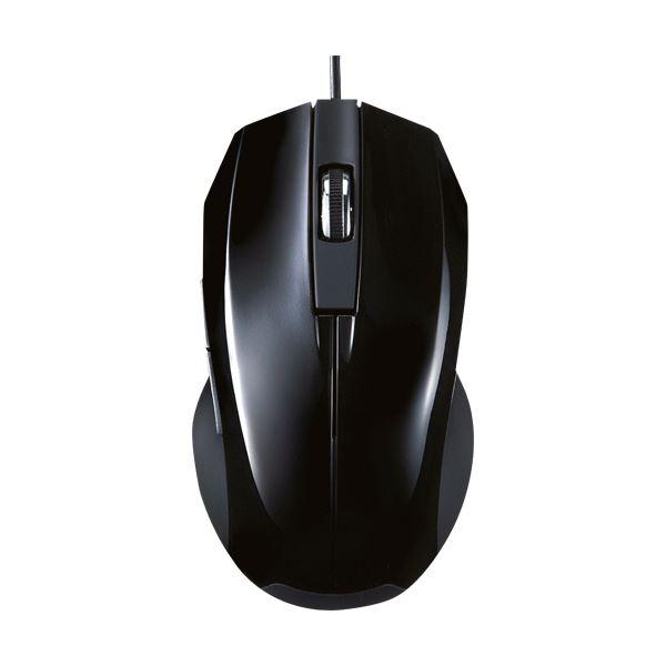 【有線タイプ】静かな場所でも気にせず使える静音マウス (まとめ) サンワサプライ静音有線ブルーLEDマウス ブラック MA-BL10BK 1個 【×10セット】