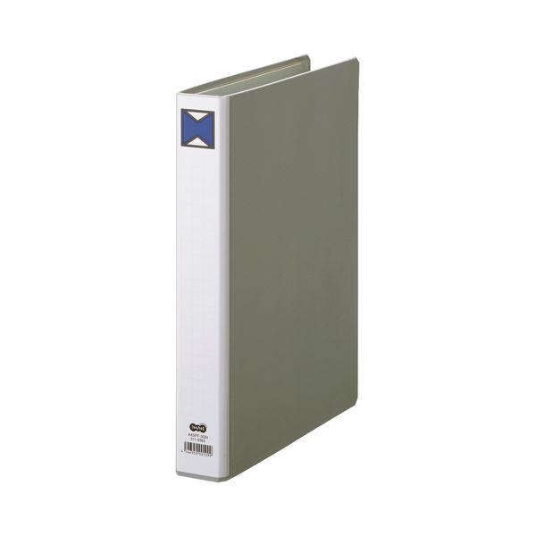 (まとめ) TANOSEE パイプ式ファイル 片開き A4タテ 300枚収容 背幅46mm グレー 1冊 【×30セット】