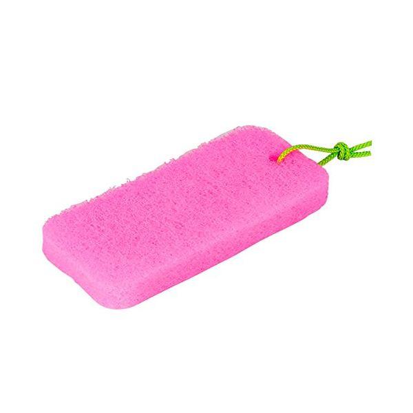 (まとめ) お風呂の湯アカとります/バススポンジ 【ヒモ付き】 風呂掃除 S-725 【60個セット】