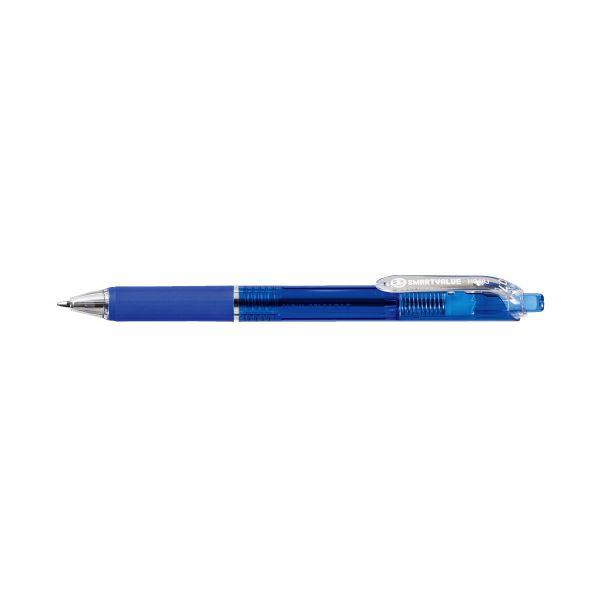(まとめ)スマートバリュー ノック式ボールペン100本 H048J-BL-100青(×3セット)