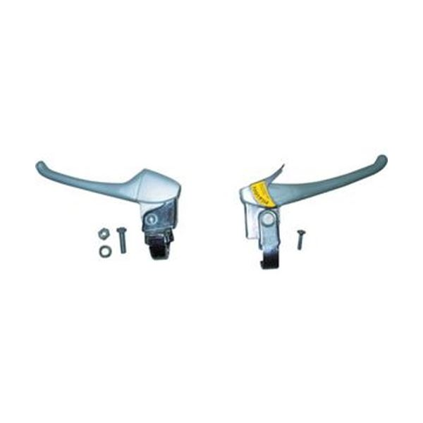 (まとめ)TRUSCO THR-5503用ブレーキレバー 左右セット THR-5503BKE 1組【×5セット】
