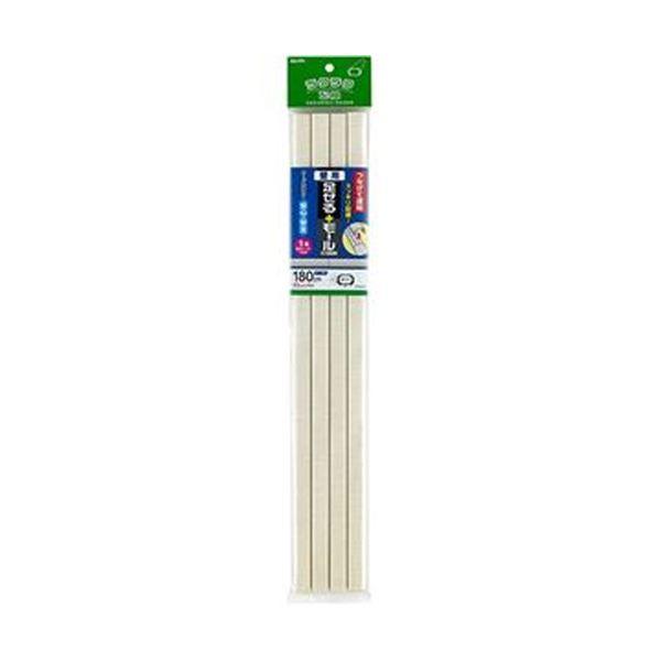 (まとめ)ELPA 足せるモール 壁用1号45cm テープ付 壁紙クロス PSM-K145P4(CR)1パック(4本)【×10セット】