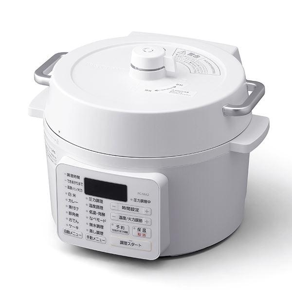 ホワイト アイリスオーヤマ 2.2L 電気圧力鍋 PC-MA2-W