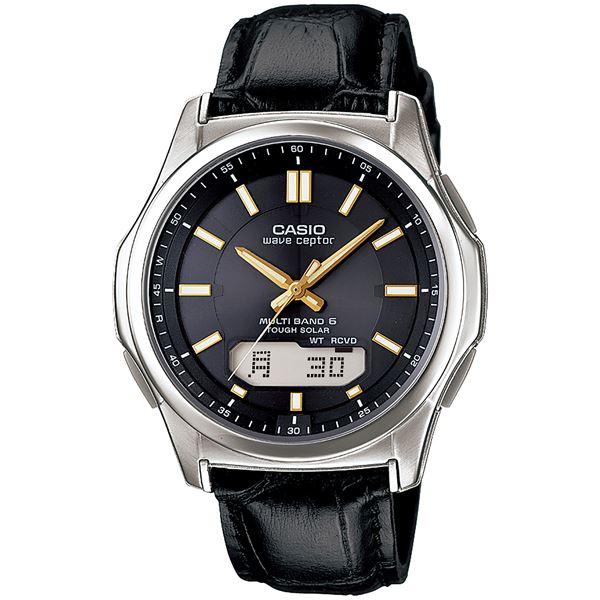 腕時計 電波 ソーラー 紳士用 ウォッチ 黒 WVA‐M630L‐1A2JF【代引不可】