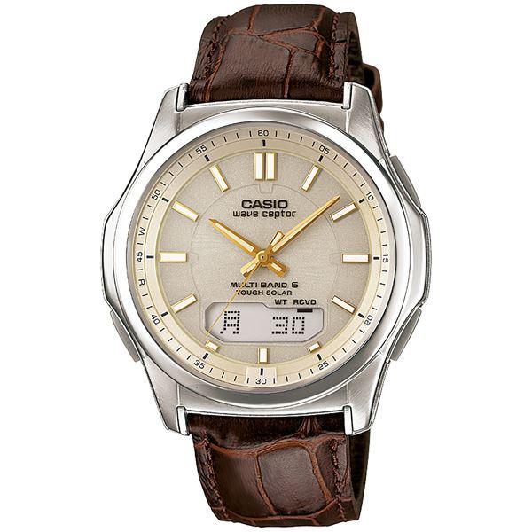 腕時計 電波 ソーラー 紳士用 ウォッチ 茶 WVA‐M630L‐9AJF【代引不可】