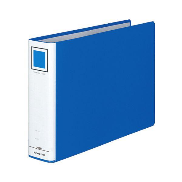 (まとめ) コクヨ チューブファイル(エコ) 片開き A4ヨコ 500枚収容 背幅65mm 青 フ-E655B 1冊 【×10セット】