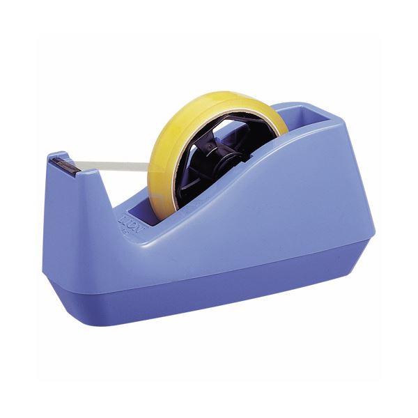 (まとめ)ライオン事務器 テープカッター大巻・小巻両用 85×208×110mm 青 No.25 1セット(10台)【×3セット】