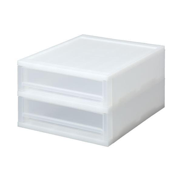 (まとめ)サンコープラスティック ブリオ A4浅型2段ケース ホワイト(×20セット)