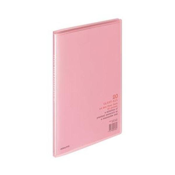 (まとめ)コクヨ クリヤーブック(キャリーオール)固定式 A4タテ 20ポケット 背幅11mm ピンク ラ-1P 1セット(10冊)【×5セット】