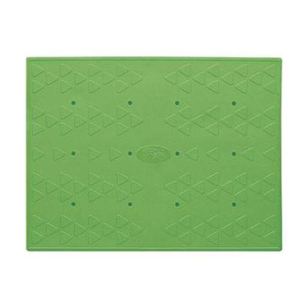 (まとめ)アロン化成 吸着すべり止めマット浴槽内用 C 28×36cm グリーン 535-129 1パック(2枚)【×5セット】
