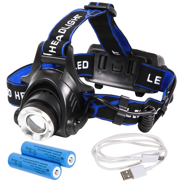 【マラソンでポイント最大44倍】Tomo Light(トモライト) LEDヘッドライト 充電式 地震 台風 大雪 防災 特化型 単眼ライト PSE認証 18650型リチウムイオンバッテリー 2本付属【3個セット】