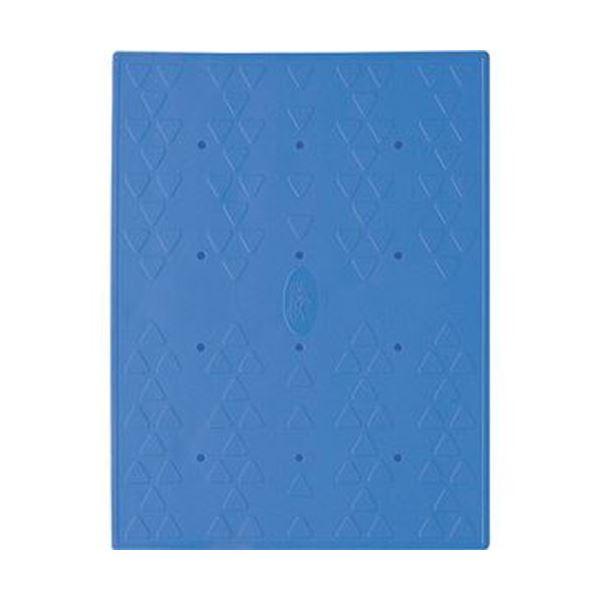 (まとめ)アロン化成 吸着すべり止めマット浴槽内用 C 28×36cm ブルー 535-127 1パック(2枚)【×5セット】