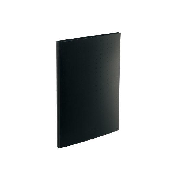 【スーパーセールでポイント最大44倍】(まとめ)LIHITLAB 名刺帳 A4 300枚用 黒 A-5042-24【×10セット】