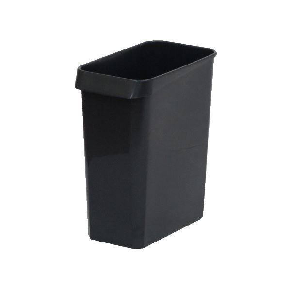 (まとめ)E-CON エコン ダストボックス 角型 #13 ブラック【×50セット】