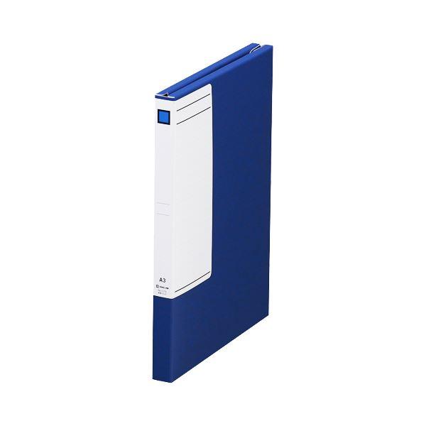 (まとめ)キングジム 図面ファイルGS A32つ折 背幅27mm 青 1173 1セット(5冊)【×3セット】