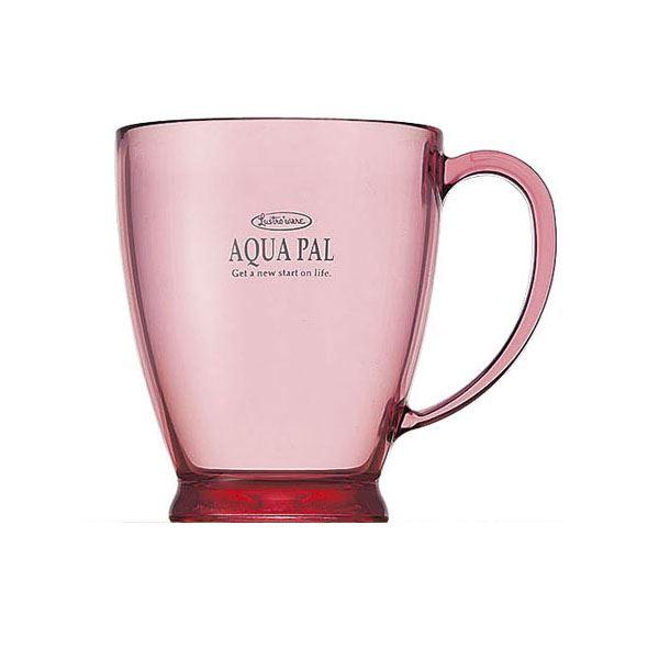 (まとめ) プラスチックコップ/プラカップ 【ピンク】 280ml 熱湯消毒可 キッチン用品 アクアパルカップ 【×60個セット】